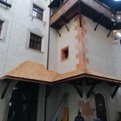 Überdachung von Schlosseingang